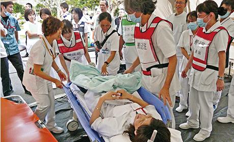 救護活動が実践できる看護師を育成